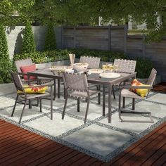 Threshold™ Blake 7 Piece Metal Woven Strap Patio Dining Set  Target
