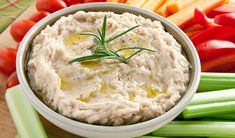White bean dip with garlic, olive oil, and rosemary White Bean Dip, White Beans, Dip Recipes, Snack Recipes, Snacks, Cooking Sauces, Cooking Recipes, Appetizer Dips