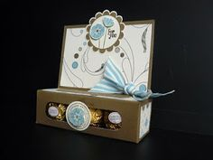 The Craft Spa - Stampin' Up! UK independent demonstrator : Elegant Soiree DSP & SAB Punch Bunch Ferrero Rocher Treat Holder