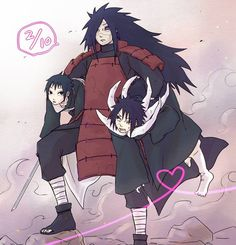 Madara comes to save the daay! with the cute little children ofcourse lol. (Obito and Izuna) Madara Uchiha, Naruto Uzumaki, Anime Naruto, Naruto Y Sasuke Beso, Comic Naruto, Naruto Fan Art, Naruto Cute, Otaku Anime, Gaara