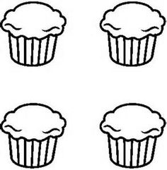 Black and White Cupcake Outline - Bing Images