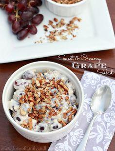 Sweet & Creamy Grape Salad