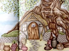 Romantic country by Eriy- the second tale Colored by Julie's passion for coloring