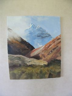 UNTAMED LAND mountains New Zealand art oil by KareNZGallery