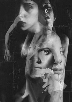 Photomontage 2014 by Waldemar Strempler. Surreal Collage, Collage Art, Collages, Bw Photography, Double Exposure, Black And White Photography, Art Drawings, Illustration Art, Artwork