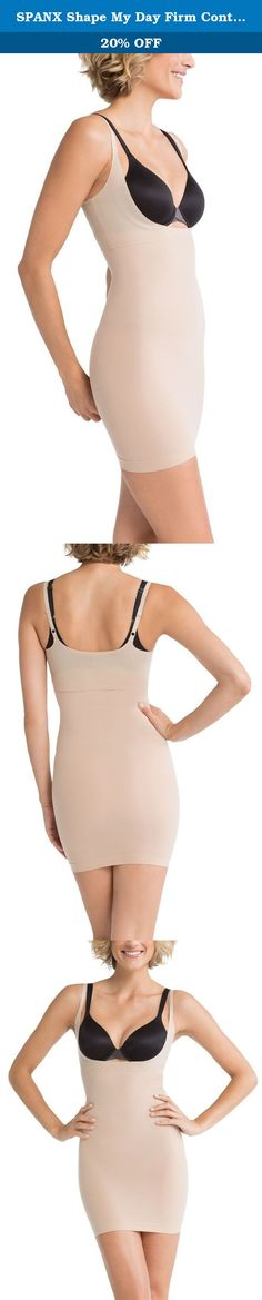 SPANX Shape My Day Firm Control Open-Bust Full Slip, M, Natural. Experience firm control in this open-bust full slip, Approx. 31'' long from shoulders. Stretch microfiber, Firms tummy, hips, thighs and rear. Targeted zone compression thanks to seamless yarns SPANX, Style Number: SS0215.