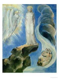 The Third Temptation Giclee Print by William Blake