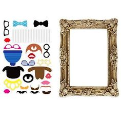 Photo Booth - Photo Frame with 24 Props for Party Photos Wedding Photography Props, Wedding Photo Booth Props, Diy Photo Booth, Party Props, Wedding Supplies, Party Supplies, Diy Fotokabine, Easy Diy, Best Photo Albums