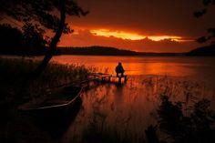 Sonnenroter See - von Anatoly Sokolov