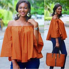 2019 Oustanding Ankara Off-shoulder Blouses African Wear Dresses, Latest African Fashion Dresses, African Print Fashion, Africa Fashion, African Attire, African Blouses, African Tops, African Women, Overall