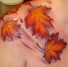 Omg I want to get a leaf tattoo! I love autumn