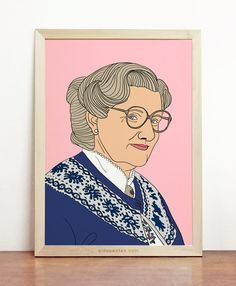 Mrs Doubtfire Poster Robin Williams 1990s by Cincuentas on Etsy