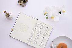 Jahresuebersicht Kalender im Bullet Journal