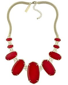 Ginger Statement Necklace in Bright Red - Kendra Scott Jewelry.