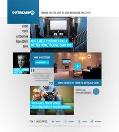 Behance :: Outreach AV Responsive Web Design by Eric Snowden #responsive #webdesign