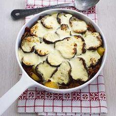 Amaze Your Family - Must-make Moussaka:  minced beef, eggplant, greek yogurt, eggs, parmesan cheese, chopped tomatoes, sun-dried tomatoes, boiling potatoes