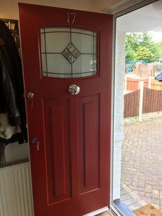 Rockdoor Newark Bright Star in Red #Rockdoor #verysecuredoors #rockdoors #compositedoor #door #frontdoor #composite #doors