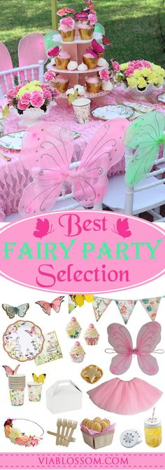 Fabulous Fairy Party Ideas and decorations for a beautiful celebration!  Everything you will need for your daughter's Fairy birthday party!