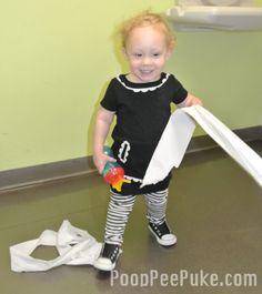 Toilet paper is the best toddler accessory.     http://www.pooppeepuke.com/2013/02/26/toddler-toilet-paper-mom-blog/