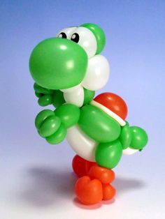Balloon Art Yoshi #Balloon Mario brothers #balloon yoshi