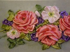 Wonderful Ribbon Embroidery Flowers by Hand Ideas. Enchanting Ribbon Embroidery Flowers by Hand Ideas. Ribbon Flower Tutorial, Ribbon Embroidery Tutorial, Silk Ribbon Embroidery, Hand Embroidery Designs, Bow Tutorial, Embroidery Thread, Learn Embroidery, Rose Embroidery, Embroidery Patterns