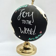 Mini Custom Painted Globes by SimplyLoveCrafting on Etsy