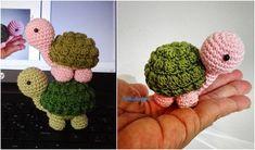 Turtle Amigurumi or Keychains Crochet FREE turtle-bob-crochet-free Baby Knitting Patterns, Crochet Dolls Free Patterns, Crochet Doll Pattern, Crochet Patterns For Beginners, Crochet Sheep, Free Crochet, Crochet Turtle Pattern Free, Crochet Embellishments, Kawaii