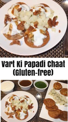 Enjoy Papadi Chaat while fasting. Papdis made with Chestnut(Singadha) flour topped with potatoes and tangy chutneys(no onion no garlic recipe) Tamarind Chutney, Green Chutney, Papdi Chaat, Shredded Potatoes, Coriander Cilantro, Water Chestnut, Garlic Recipes, Savory Snacks, Chutneys