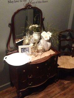 Antique Dresser=entry table