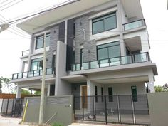 Hua Hin Real Estate Hua Hin Property Thailand Real Estate New Semi-Detached Home For Sale in North Hua Hin Price:  7.9 Million THB - 50/50 Tax -- 3 Bedrooms 4 Bathrooms 3 Floors -- Living Area:  350 Square Meters -- Land Area:  200 Square Meters -- Ground Floor Swimming Pool