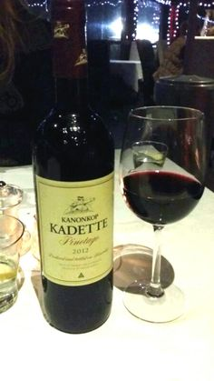 Kanonkop Pinotage 2012. Fiamma Grill, Ballito, South Africa. ▲ Cellar, Red Wine, South Africa, Alcoholic Drinks, Bottle, Eat, Food, Alcoholic Beverages, Meal
