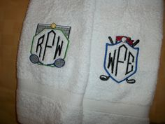 tennis and golf towels