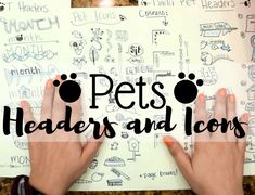 Pet Themed Headers and Icons for you Bullet Journal