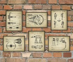 Military Patent Prints Set Of 6 - Army Art Posters - Military Vehicle - Military Equipment - Tank Design - Bedroom Wall Art Nerd Room, Nerd Cave, Deco Anniversaire Star Wars, Star Wars Vintage, Military Bedroom, Boys Army Bedroom, Decoration Star Wars, Art Mural, Wall Art