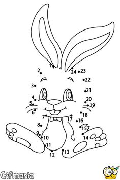 Cute bunny dot to dot game printable connect the dots game. You can print out for free this Cute bunny dot to dot game printable connect the dots game. Animal Activities For Kids, Free Games For Kids, Animal Games, Coloring Pages To Print, Colouring Pages, Easter Colouring, Connect The Dots Game, Dot To Dot Printables, Easter Bunny Pictures