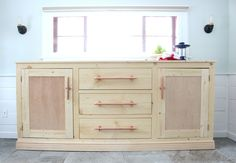 Ana White   Build a Extra Long Buffet Cabinet   Free and Easy DIY Project and Furniture Plans