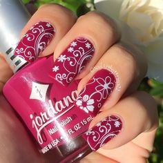 http://www.bornprettystore.com/charming-spring-nail-stamp-template-image-plate-born-pretty-bp24-p-17203.html Pretty Nail Art, Beautiful Nail Art, Cute Nail Art, Cute Summer Nail Designs, Super Cute Nails, Nail Stamping, Nail Art Stamping Plates, Flower Nail Art, Spring Nail Art