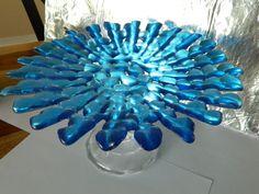 Sharing this lovely platter from an Expat team member... our challenge winner!  Thanks Green or Blue Starburst Fused Glass Serving Platter via Etsy http://www.etsy.com/listing/124809639/green-or-blue-starburst-fused-glass?ref=teams_post