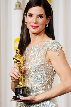 """Sandra Bullock won Best Actress for (""""The Blind Side"""") in 2009. I just love her…"""
