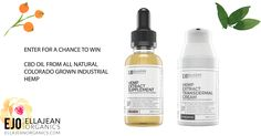 You can win a 900mg EJO Hemp Extract Oil (your choice of Cinnamon or Mint) and a 600mg EJO Transdermal Hemp Extract Cream | Made from All Natural Colorado Grown Industrial Hemp