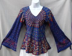 Top Bohemian Clothing | Home :: CLOTHING :: Shirts :: Indian Women Ladies Peacock Hippie Boho ...