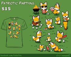Woot Shirt: Patriotic Partying by fablefire.deviantart.com on @DeviantArt