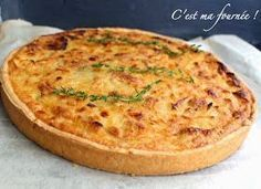 C'est ma fourner pate a quiche Quiches, Omelettes, Onion Tart, Onion Pie, Pizza Cake, Good Food, Yummy Food, Salty Foods, Savory Tart
