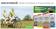 Centro Auditivo Cuenca, promoción 10 blisters de baterías Rayovac a 3€ cada uno.