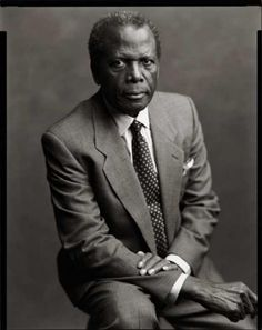 """This uncompromising man holds my utmost respect for never wavering from his core truth. He turned down roles and changed scripts when they went against the fiber of his being """"My intent was to make films that people of color could sit in the theatre and feel the goodness of themselves be represented.""""                        - Sidney Poitier"""