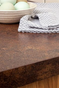 Discover more images of our Copper Effect laminate worktop range Lisa's Kitchen, Wren Kitchen, Kitchen Worktop, Copper Kitchen, Kitchen Units, Kitchen Ideas, Copper Top Table, Work Tops, Copper Color