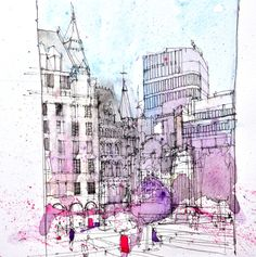 urban sketchers, pushing your sketching boundaries in Coventry 2015