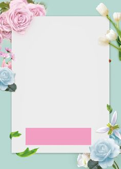 Framed Wallpaper, Flower Background Wallpaper, Frame Background, Pastel Background, Flower Backgrounds, Wallpaper Backgrounds, Iphone Wallpaper, Instagram Background, Instagram Frame