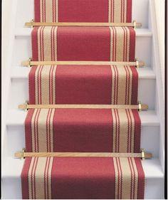 Red stair runner