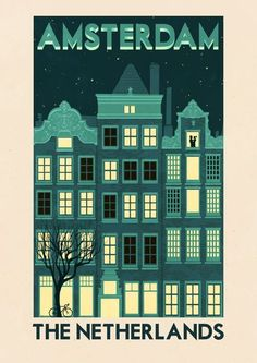 Amsterdam Canal House....can be ordered as an art print, poster, canvas print, gallery print and greeting card.